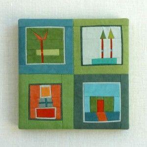 "Erin Wilson: Square #80, 5"" x 5"" x 1/2"" (sold)"