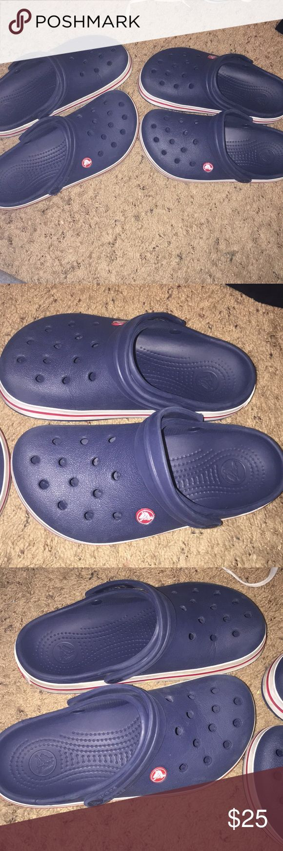 Navy blue crocs!!!! 2 different pairs!!! Both in great condition, $13 each or 25 for both CROCS Shoes Mules & Clogs