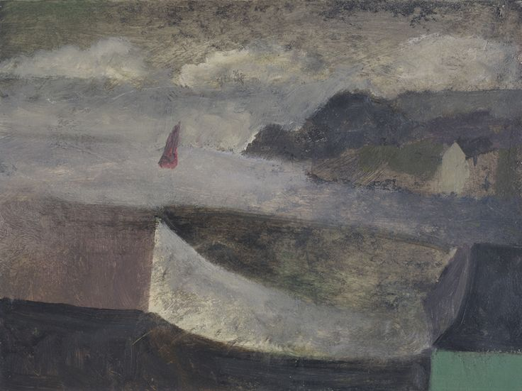 Nicholas Turner 'White boat and Sail' , oil on board