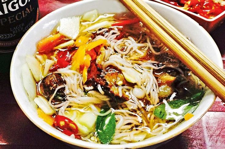Bun cha is a Vietnamese breakfast dish of delicate broth-like dipping sauce laced with pickled carrot, pork meatballs and slices of marinated pork chargrilled over coals.