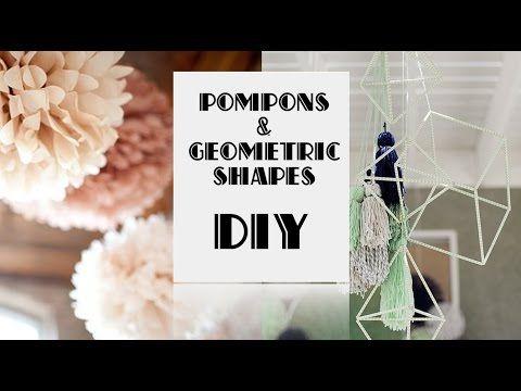DIY POMPONS & GEOMETRIC SHAPES. Помпоны и геометрические формы для декора интерьера. - YouTube