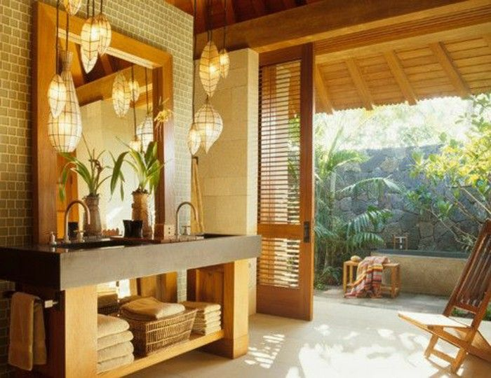 jolie salle de bain salle de bain zen bambou en bois clair