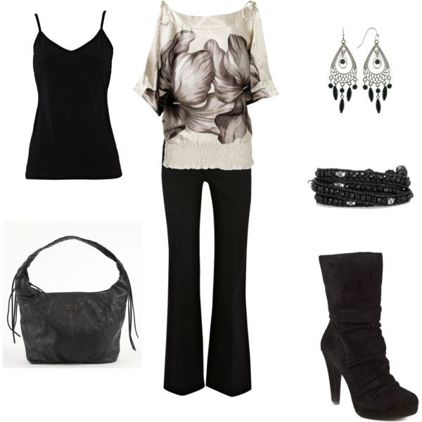 Outfit: Date Night, Fashion, Shirts, Black And White, Night Outfit, Black Outfit, Black White Outfit, Cute Outfit, Work Outfit