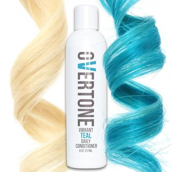 Never let your teal hair dye fade again with oVertone turquoise color conditioner. Unlike teal shampoo, it's hydrating and acts like both a mask AND a dye!