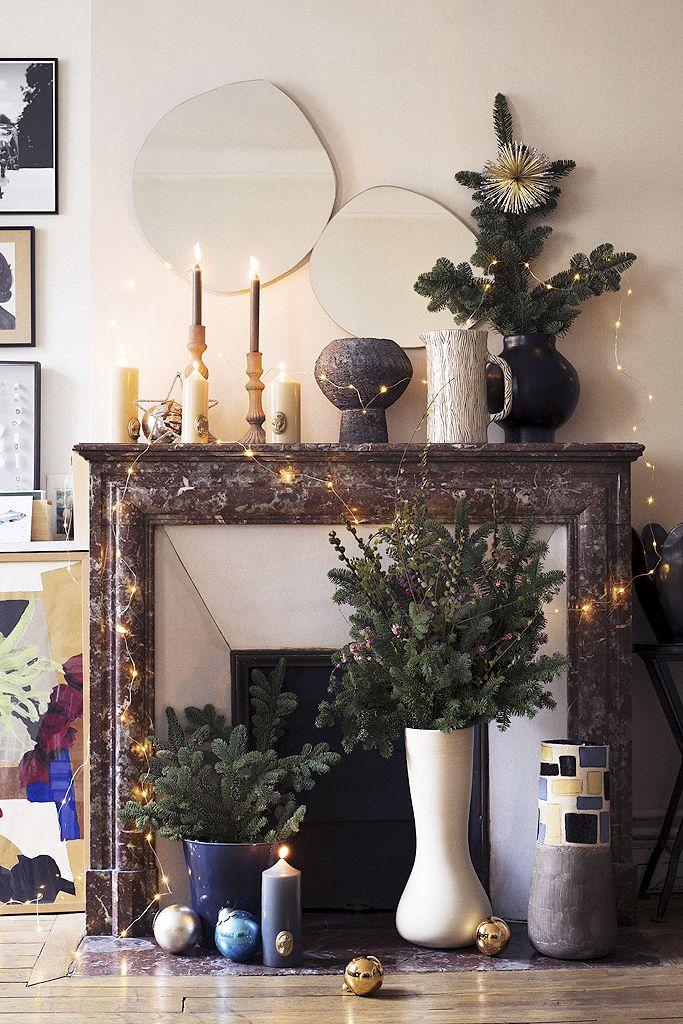 nos idees de deco de noel chic qui changent vraiment hs decoration pinterest christmas decorations christmas and traditional fireplace