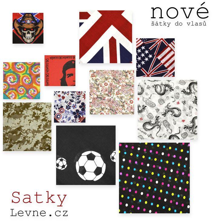Nové čtvercové šátky do vlasů   http://www.satkylevne.cz/www/cz/shop/satky-do-vlasu/