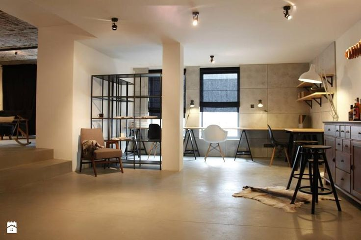dom w Nowej Iwicznej - projekt zrealizowany dla programu Dekoratornia - zdjęcie od bemydesign - Gabinet - Styl Industrialny - bemydesign