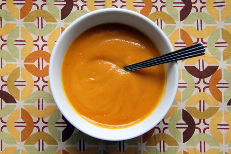 Sweet Potato Chipotle Soup | in a bowl | Pinterest