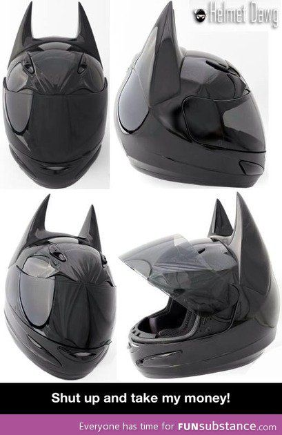 Y'know...with a little painting, this could very well be a Celty Sturluson helmet!!! I want one!
