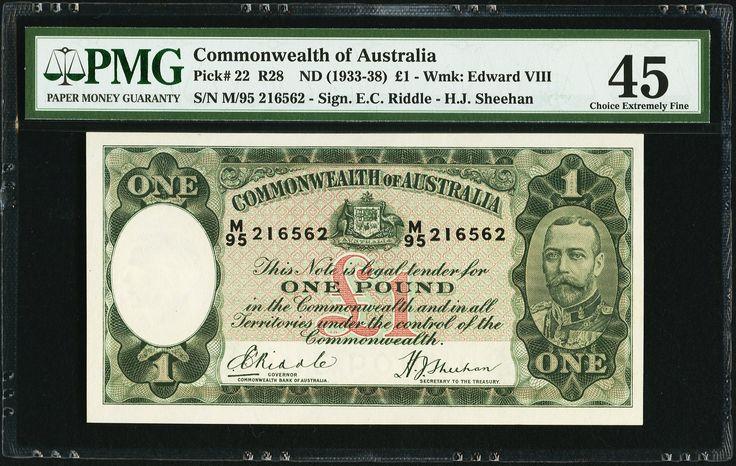 Australia Commonwealth of Australia £1 ND (1933-38) - 1