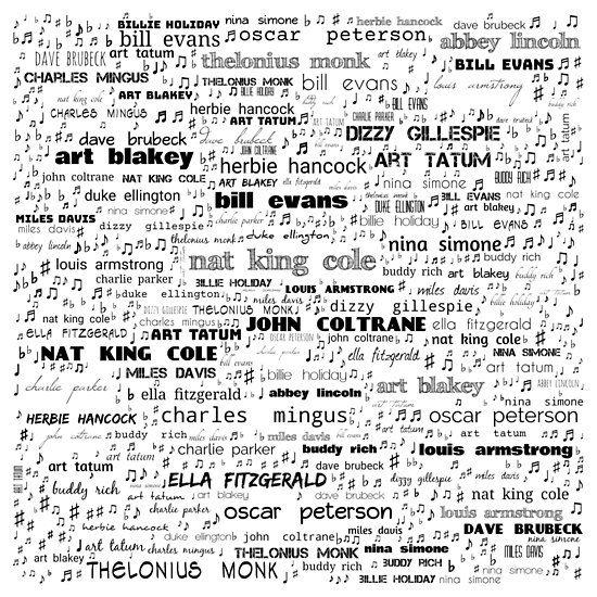Jazz BigTimers Music design, Evans art, Hardcover journals