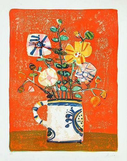 Paul Aizpiri, Bouquet of Flowers #flower #painting