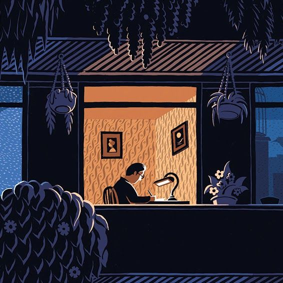 Mr. Jon McNaught's Novel Illustrations