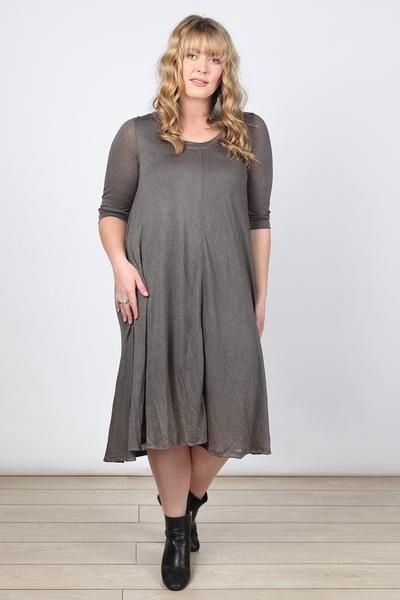 Dench Dress in Khaki (Plus Size)