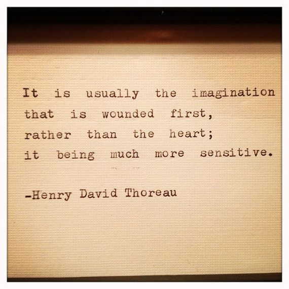 Henry David Thoreau Quote Typed on Typewriter and by farmnflea. , via Etsy.