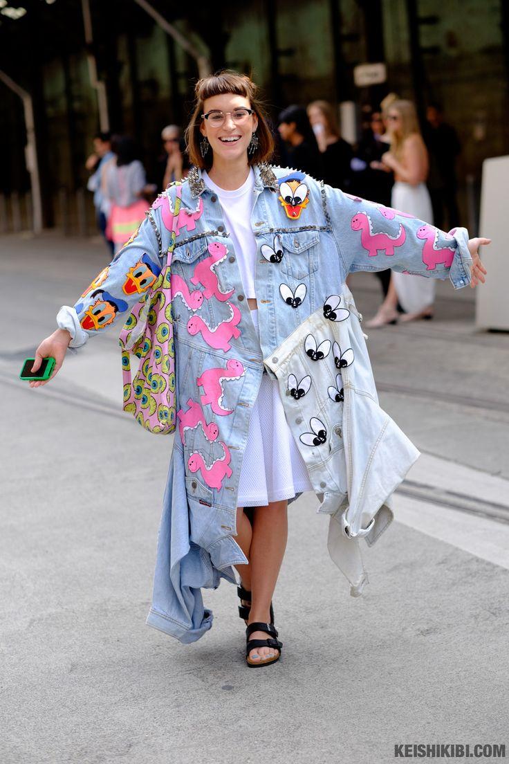 Chloe Nour looks super cute in this customised denim jacket x