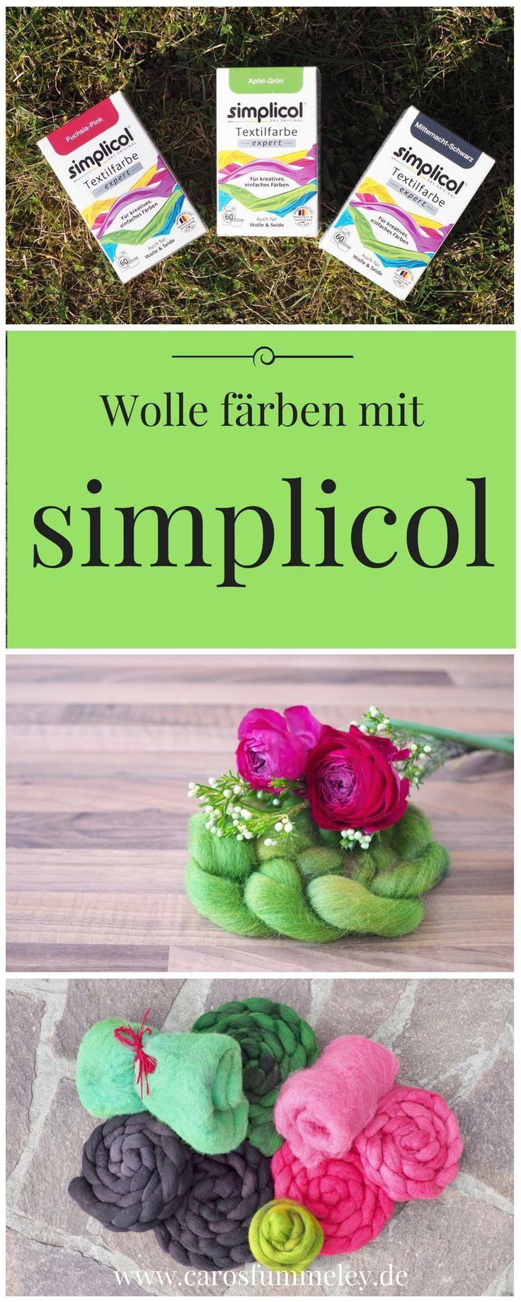 Wolle kann mit verschiedenen Methoden gefärbt werden: Ostereierfarben, Säurefarben, Pflanzen oder mit Textilfarben wie simplicol. Ich zeige, wie es geht.
