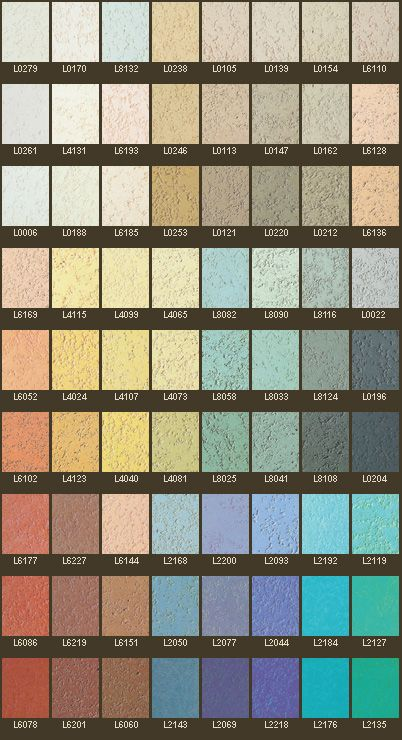 Colour Chart - Pitted Textured Polished Plaster