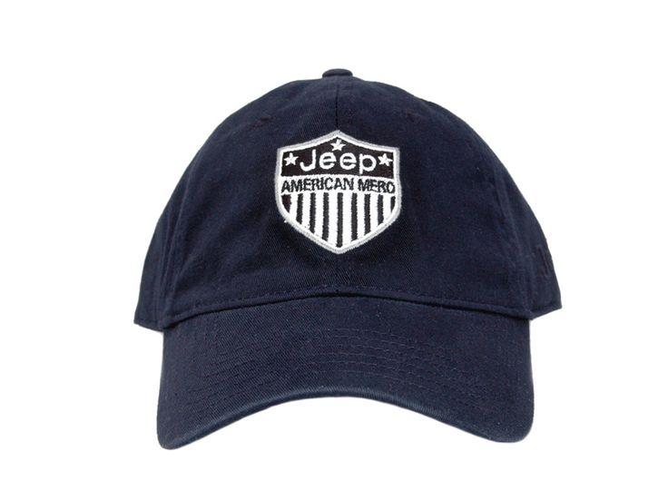 jeep baseball cap deep navy blue stone washed caps logo hat