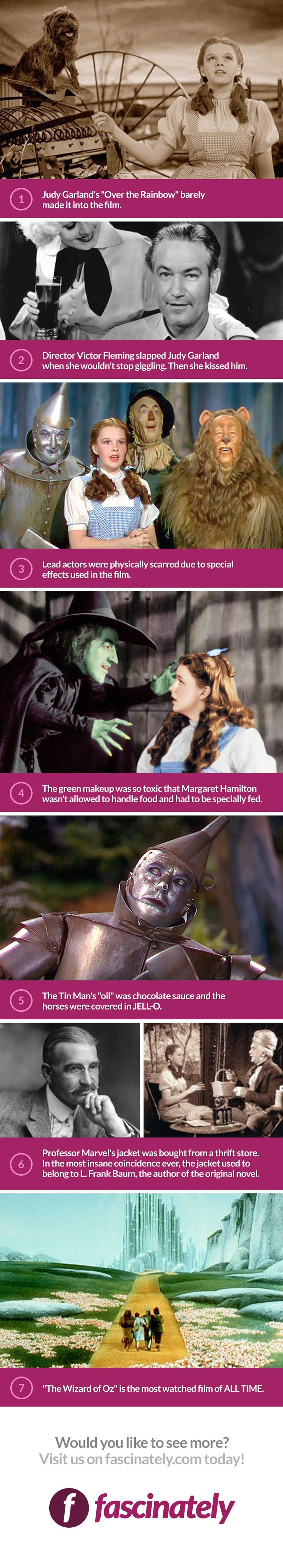 "The Wizard Of Oz premiered in 1939 which proves that this movie is timeless. And even all the ""superfans"" of this classic probably didn't know these 7 facts… until now."