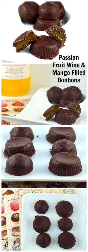 Passion Fruit Bonbon #passion #fruit #Bonbon #dessert #Chocolate #wine #fruity #summer #finger food