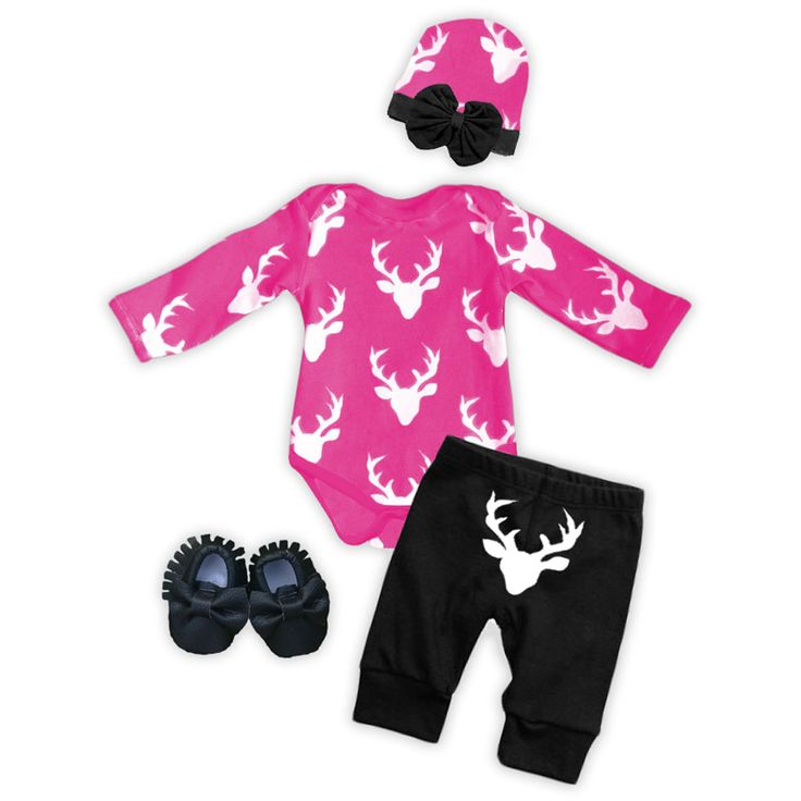 New *HOT* Oh deer style onesie pant set. Take me home baby style, baby girl going home outfit, deer antler onesie, baby hunting outfit, baby shower gift