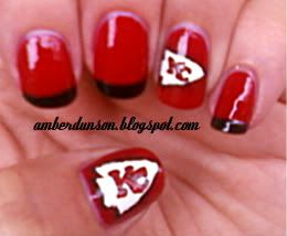 kansas city chiefs nails | Amber did it!: Sunday Football Series #10~ Kansas City Chiefs