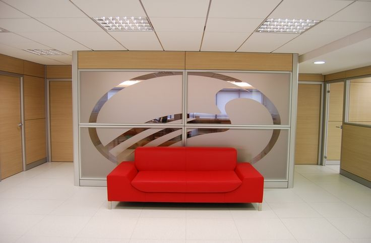 Waiting area glass partition