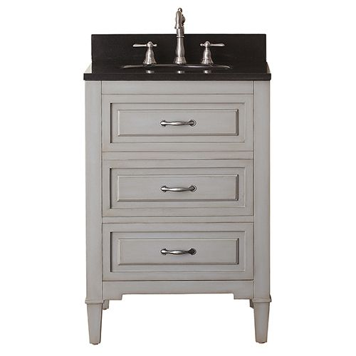 Avanity Kelly Grayish Blue 24 Inch Vanity Combo With Black Granite Top