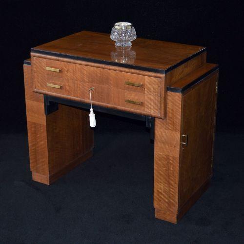 Fine walnut Art Deco serving table retailed by Harrods, Knightsbridge