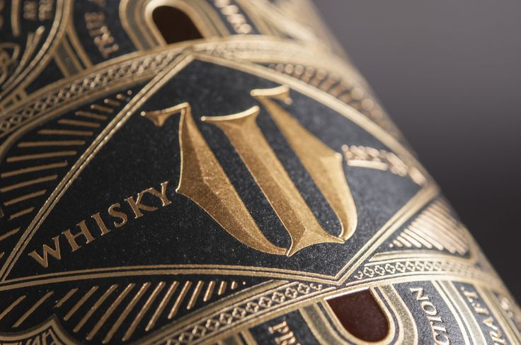 Whisky & Ink label design by United Creatives (printed by Collotype of Daventry).
