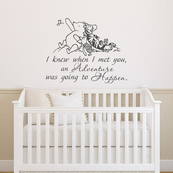 Winnie The Pooh Wall Decal Quote I Knew When Met By Ponydecal