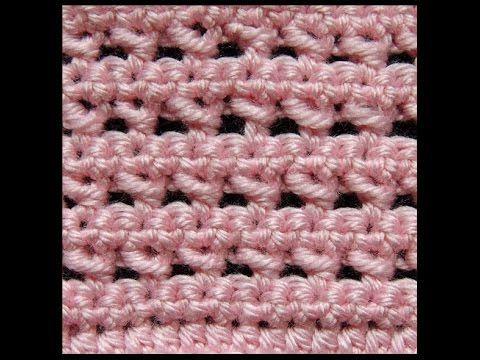Crochet : Punto Bajo Doble - YouTube