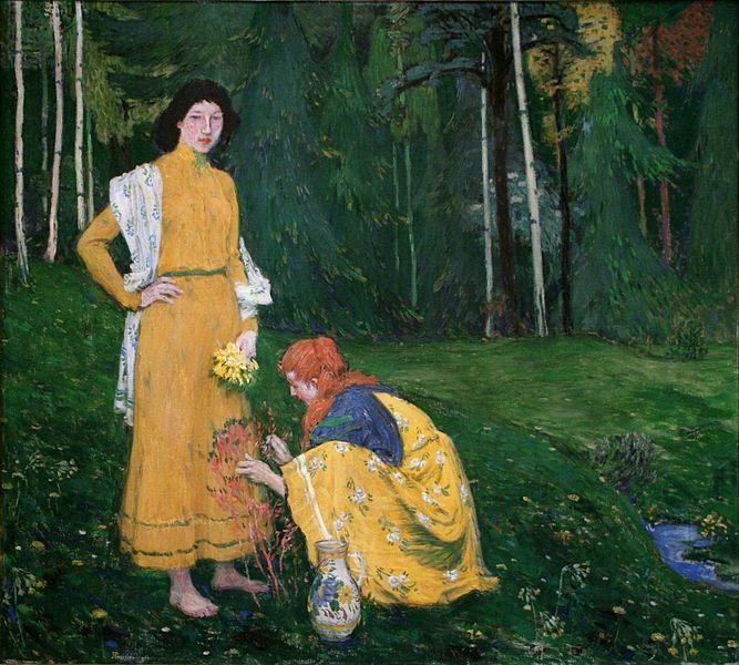on the wall. Jan Preisler (1872–1918)  Spring 1906
