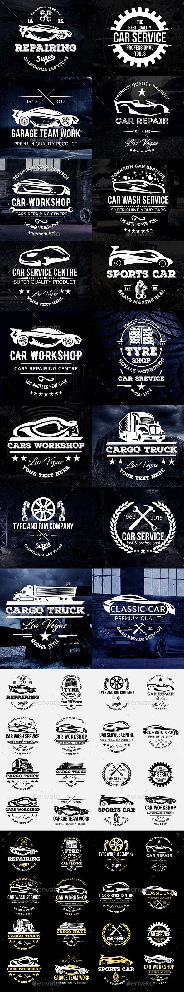 Car body sticker design eps - Cars Logos Badges Set