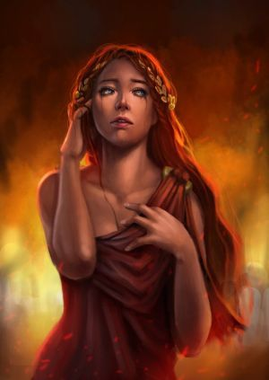 Cassandra (Alexandra) - the fairest among the daughters of Priam and Hecabe; a princess of Troy cursed to see the future but never to be believed