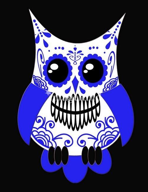 Sugar skull owl