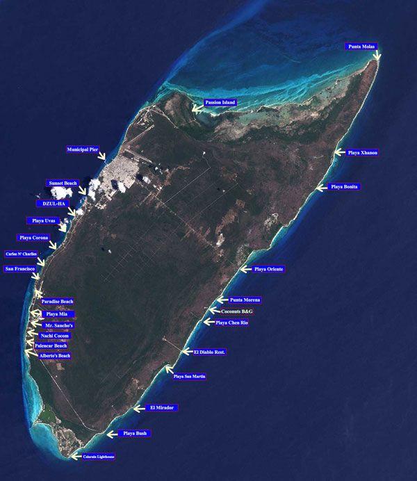 Cozumel Beaches interactive map