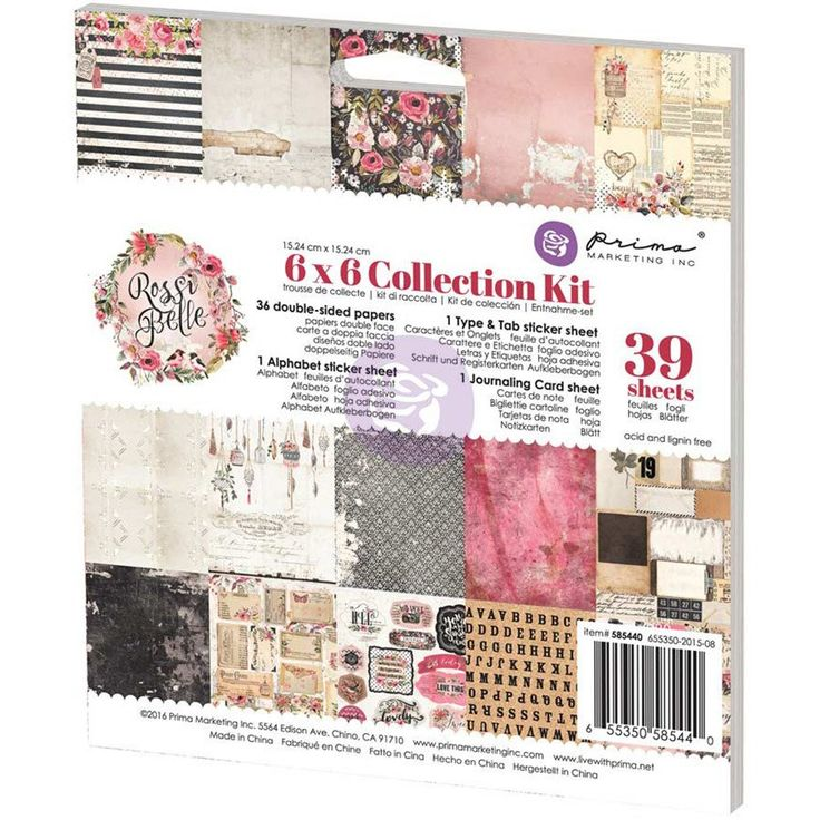 """Prima Marketing Rossi Belle Collection Kit 6""""x6"""""""
