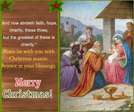 Peace be with you with Christmas Season. Rejoice in your blessings.