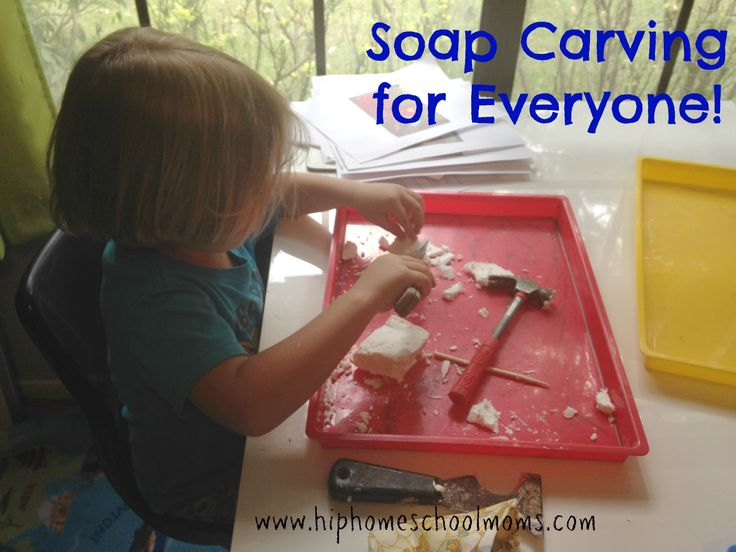 I do not remember when I first did soap carving, but sometime when I taught public school I saw the idea, and it was a (cheap) hit with my students.  Recently, my sons were asking about trying out wood carving, but all the classes in our area were for older kids who could handle …