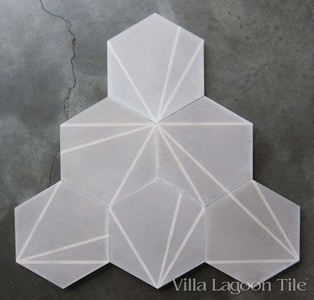 Crow S Feet Hex Cement Tile From Villa Lagoon A Stock Ready For Shipment