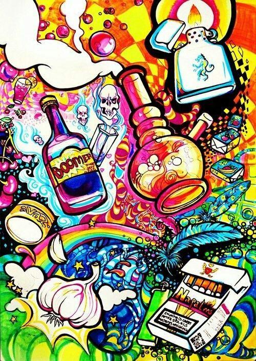 weed cannabis lsd acid color acid trip salvia color gif weed art ...