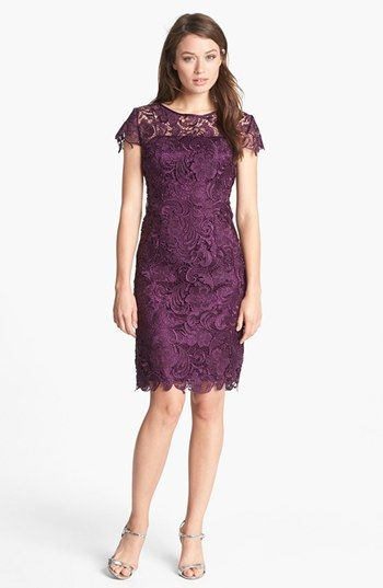 Patra Crocheted Venise Lace Sheath Dress (Petite) available at #Nordstrom