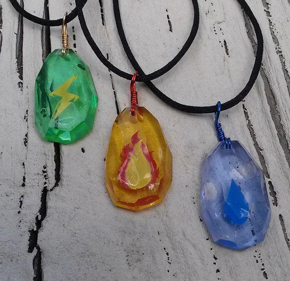 I want!! Pokemon Evo-Stone Necklace 3 Pack  Facet Finish by Resinators