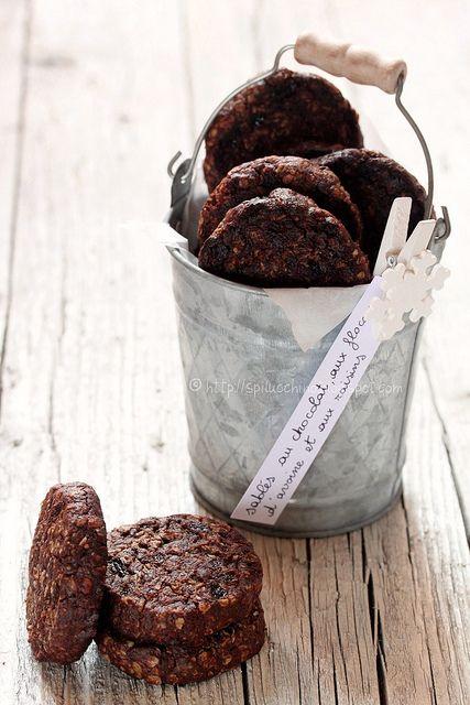 Dal blog #lospilucchino biscotti avena, cioccolato e uvette... ricetta tratta dal libro di Pierre Hermès