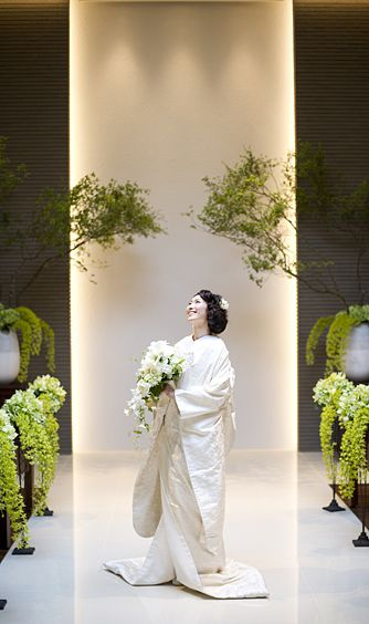 白無垢&緑 Beautiful Japanese Bride.