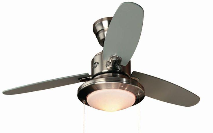Ventilador de techo con luz plata mate #ventiladores #decoracion #verano #climatizacion #calor #ventilacion #diseño #aire