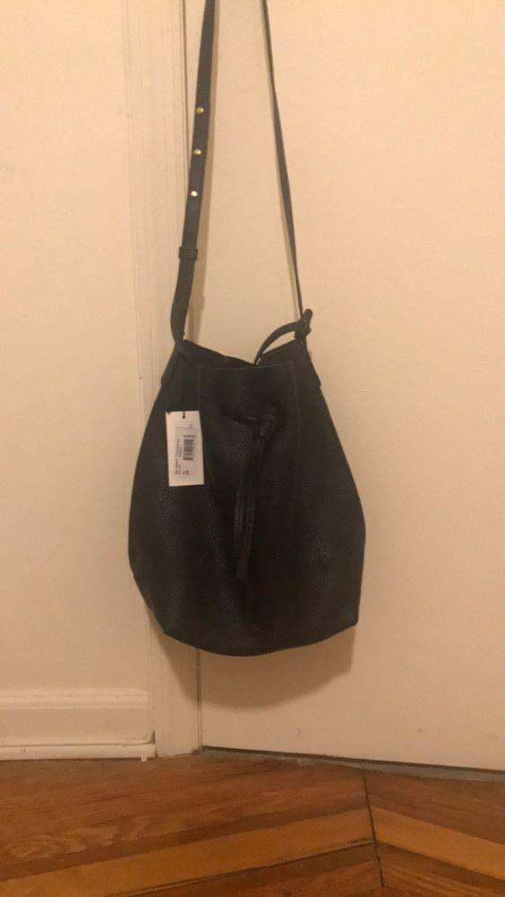 a3255bb05daf Mansur Gavriel Black Soft Tumble Leather Bucket cross body tote Bag  625   fashion  clothing