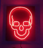 Red Skull Neon Signs Neon Art Wall Art